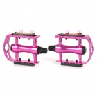 Bicycle Anti-slip Aluminum Alloy Pedals - Deep Pink (2 PCS)