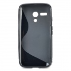 S-21 ''S'' Shaped Protective TPU Back Case for MOTO G - Black