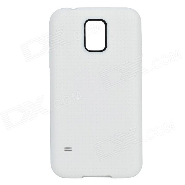 S5-01 TPU Protective Back Case for Samsung Galaxy S5 - White чехол для для мобильных телефонов oem sumsung galaxy s5 wood case for sumsung galaxy s5