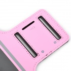 Sports Velcro Band Armband for Samsung Galaxy S4 Mini / i9190, Galaxy S3 Mini / i8190 - Black + Pink
