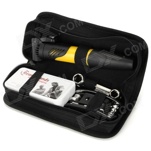 Bicycle Repair Tools Combination Kit w/ Air Pump - Black + Yellow pump repair kit db pg0261 for linx 4900 printer