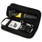 Bicycle Repair Tools Combination Kit w/ Air Pump - Black + Yellow
