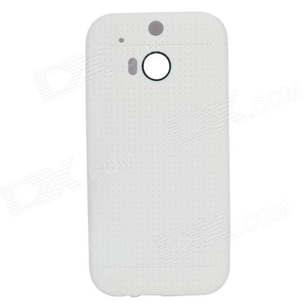 TC-01 TPU Protective Back Case for HTC ONE 2 M8 - White protective matte frosted back case for htc one x s720e black