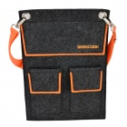 Geekcook GK1511004 Casual Polyester Shoulder Bag for IPAD - Dark Grey + Orange