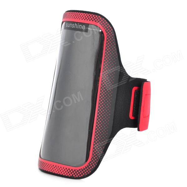 цены Sunshine Sports Gym PVC + Neoprene Armband Case for MOTO G DVX - Black + Red
