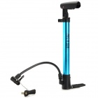 Bicycle Mini Portable Aluminum Alloy Air Pump w/ Gas Nozzle - Blue + Black