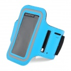 Sports Velcro Band Armband for Samsung Galaxy S4 Mini / i9190, Galaxy S3 Mini / i8190 - Black + Blue