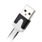 M03 Micro USB Male to USB 2.0 Male Data Sync / Charging Cable for Samsung - Black + White