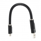 M05 Micro USB Male to USB 2.0 Male Data Sync / Charging Cable for Samsung - Black (20cm)