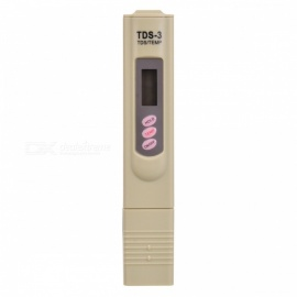 "TDS-3 Portable 0.9"" LCD Water Quality Tester Pen - Khaki (2*LR44)"