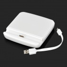 Compact 2-in-1 Charging Station w/ Battery Charger for Samsung S5 - White