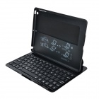 7-Color Backlight Adjustable Bluetooth v3.0 78-Key Keyboard w/ PU Case for IPAD AIR - Black + Silver