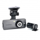 "AT950 HD 1080P 2/3"" CMOS 5.0MP + 1.3MP Car DVR Camcorder w/ 2.7"" TFT Display - Ash Black"