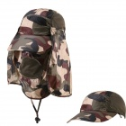Outdoor UV Protection Cotton Large Brimmed Hat w/ Neck Protection / Removable - Camouflage