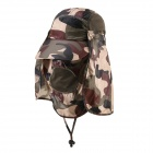 Outdoor UV-bescherming Cotton Grote rand hoed w / Neck Protection - Camouflage