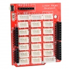Base Shield Sensor I/O Port Expansion Board - Red (Works with Arduino Official Boards)