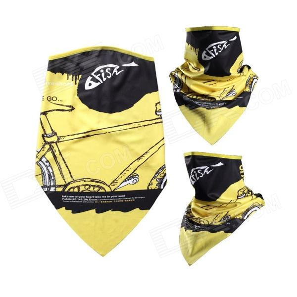 цена на Outdoor UV Protection Cycling Mask w/ Neck Protection / Mask-Desert - Yellow