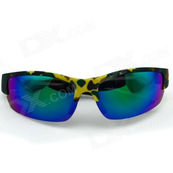 Sunscreen Cycling Goggles Sunglasses - Blue + Yellow + Green