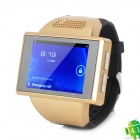 "XH-2S GSM Android 4.1.1 Wrist Watch Phone w/ 2.0"" / TF / Bluetooth / GPS / Wi-Fi - Black + Golden"