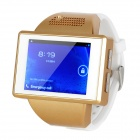 "XH-2S GSM Android 4.1.1 Wrist Watch Phone w/ 2.0"" / TF / Bluetooth / GPS / Wi-Fi - White + Golden"