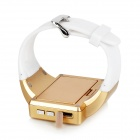 GSM Android 4.1.1 Wrist Watch Phone w/ Bluetooth, GPS - White + Golden
