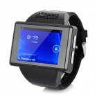 "GSM Android 4.1.1 Wrist Watch Phone w/ 2.0"" / TF / Bluetooth / GPS / Wi-Fi - Black"