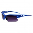Stylish PC Frame Resin Lens Bike Motorcycle Sunglasses - Blue