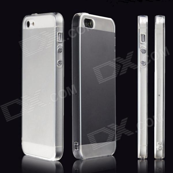 Dust-Proof Protect Case w/ Matte Protective Shell 2psc/ Set for iPhone 5 / iPhone 5s - Transparent