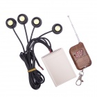 DIY 3W LED White Light Eagle Eye Lamp w/ 4-CH Wireless Remote Control Switch Set (DC 12V)