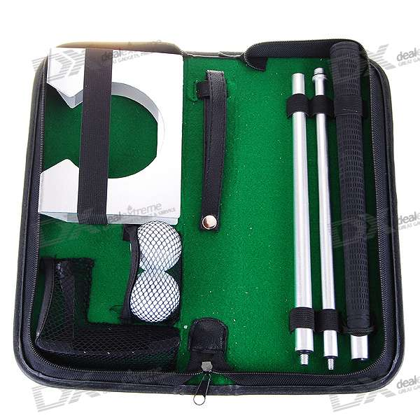 Mini Portable Golf Set with Leather Case