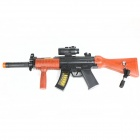 Toy Gun w/ Silencer / Telescopic Sights / Lighting / Sound Effect - Black + Dark Brown