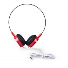 Universal ON3 Headband Stereo Foldable Headphone w/ 3.5mm Jack for Cellphone, MP3, Tablet, PSP - Red