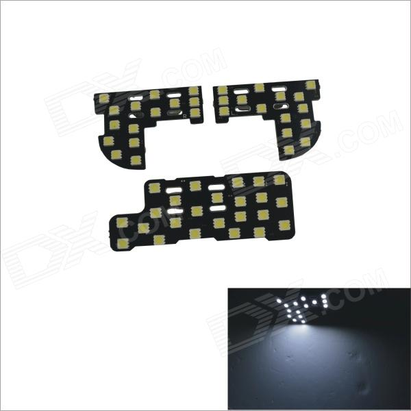 Festoon 10W 1000lm 53 x SMD 5060 LED White Light Car Roof Lamp for Honda Fit / Honda City 06~11 led rear bumper warning lights car brake lamp cob running light led turn light for honda civic 2016 one pair
