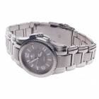 NABIX S009G Fashion Stainless Steel Men's Quartz Wristwatch + Simple Calendar - Silver
