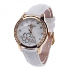 AODASI 4299L Fashionable Women's Quartz Wrist Watch w/ Rhinestone Decoration - White + Golden