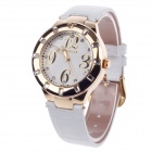 AODASI 4279L Stylish Women's Quartz Wristwatch + Rhinestone Decoration - White + Golden
