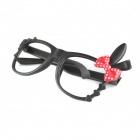 Cute Bow Knot Eyeglass Frame - Black + Red