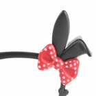 Cute Bow Knot Brillengestell - schwarz + rot