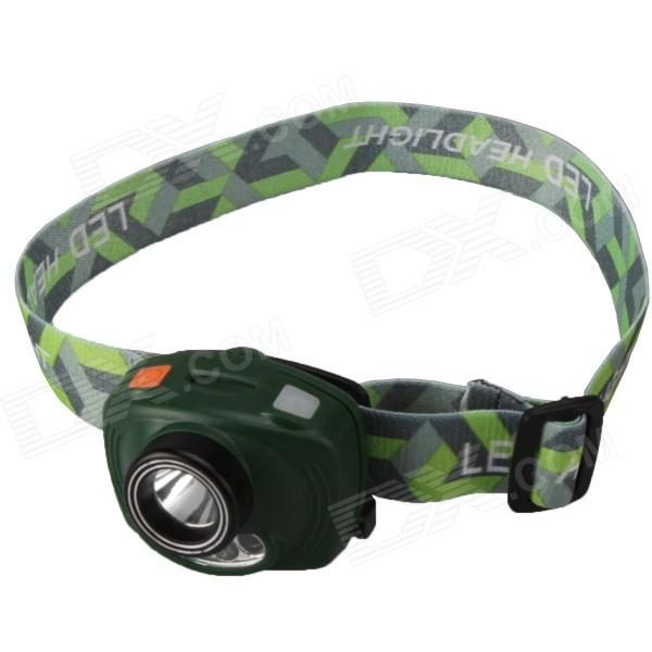 SingFire SF-633G 1-LED White + 2-LED Red 3-Mode Headlamp - Green (3 x AAA)