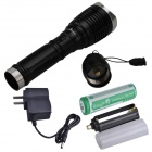 SingFire SF-339 LED 200lm 3-Mode White Zooming Flashlight - Black (1 x 18650 / 3 x AAA)