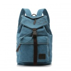 ManJiangHong 1133 Stylish New European And American Fashion Canvas Backpack - Blue