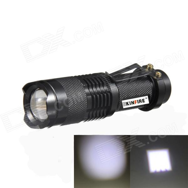 KINFIRE SK88 LED 150lm 3-Mode White Zooming Flashlight - Black (1 x AA / 14500) yp 3005 450lm 3 mode white zooming headlamp black 4 x aa