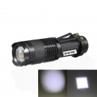KINFIRE SK88 CREE XPE Q5 150lm 3-Mode White Zooming Flashlight - Black (1 x AA / 14500)