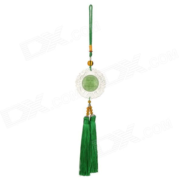 K0384 Crystal Coloured Glaze Car Interior Pendant - White + Green краска для дисков car glaze coating