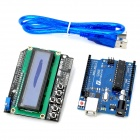 Funduino UNO R3 + LCD 1602 Keypad Shield V2.0 LCD1602 Expansion Board Building Blocks - Deep Blue