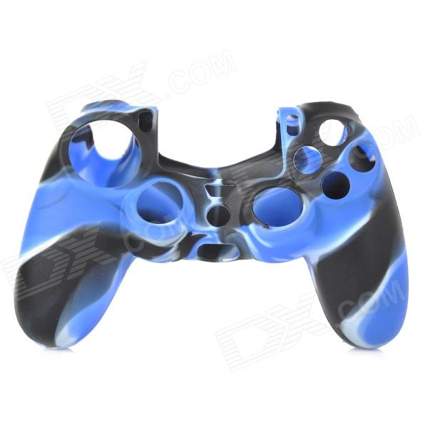 Protective Silicone Case for PS4 Controller - Deep Blue + White + Black