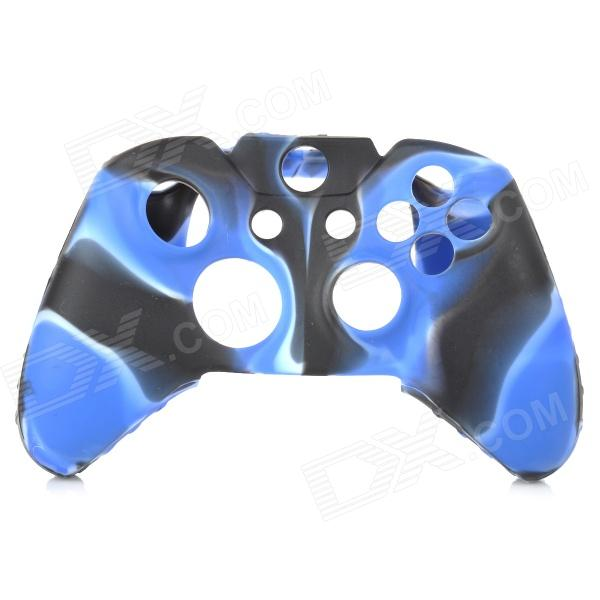 Protective Silicone Case for XBOX One Controller - Deep Blue + White + Black protective silicone cover case for xbox 360 controller yellow blue