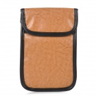 D712 Protective Anti-radiation PU + Nano Fabric Pouch Bag for Samsung Galaxy Note 2 / Note 3 - Brown