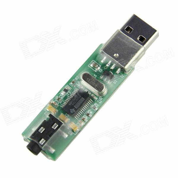 DIY USB to Audio Module for Raspberry PI / Arduino / MAC / PC + More - Green
