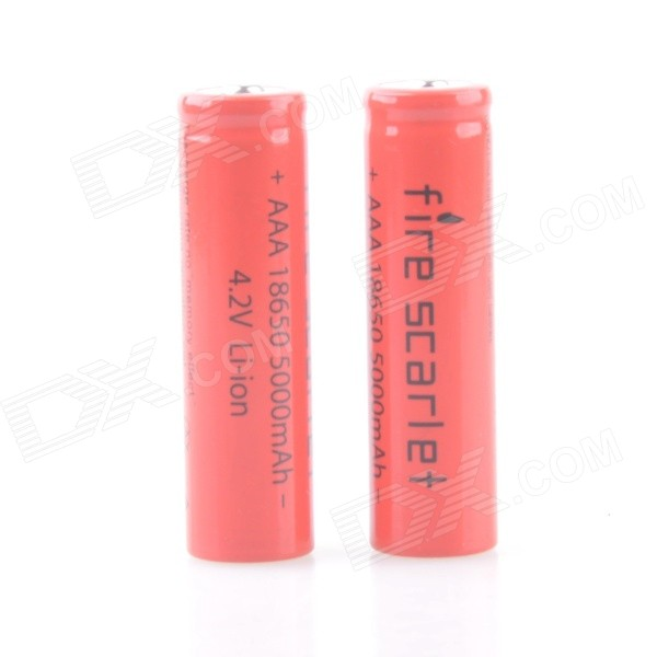 Accent 4.2V 800mAh Rechargeable Lithium Ion 18650 batterie - rouge (2 PCS)